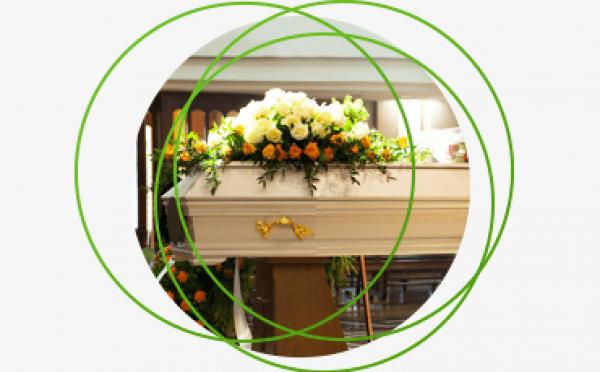 wieniec pogrzebowy na trumnie